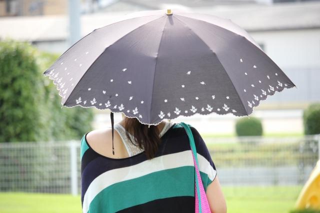 暑い日差しには日傘が一番! 日傘は女性だけではなく男性も使ってますよ!